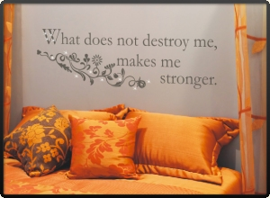 Spruch Wandtattoo What does not destroy me... zit030