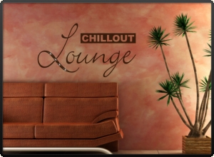 Wandtattoo Worte Chillout Lounge wrt06